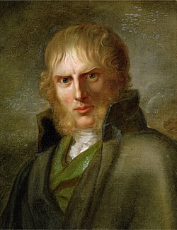 Portreto de Casper David Friedrich. Fare de Gerhard von Kügelgen (ĉ. 1810-1820)