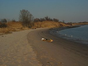 "Gerritsen Beach, Brooklyn - The beach just past the end of Gerritsen Avenue, called ""The Point"" by local residents"