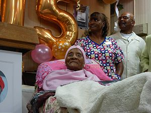 Gertrude Baines - Gertrude Baines at her 115th birthday party in Los Angeles