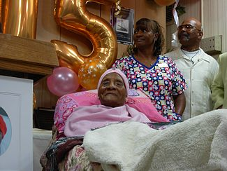 Gertude Baines turns 115.JPG