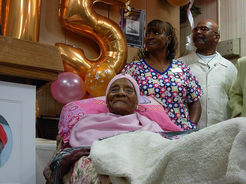File:Gertude Baines turns 115.JPG