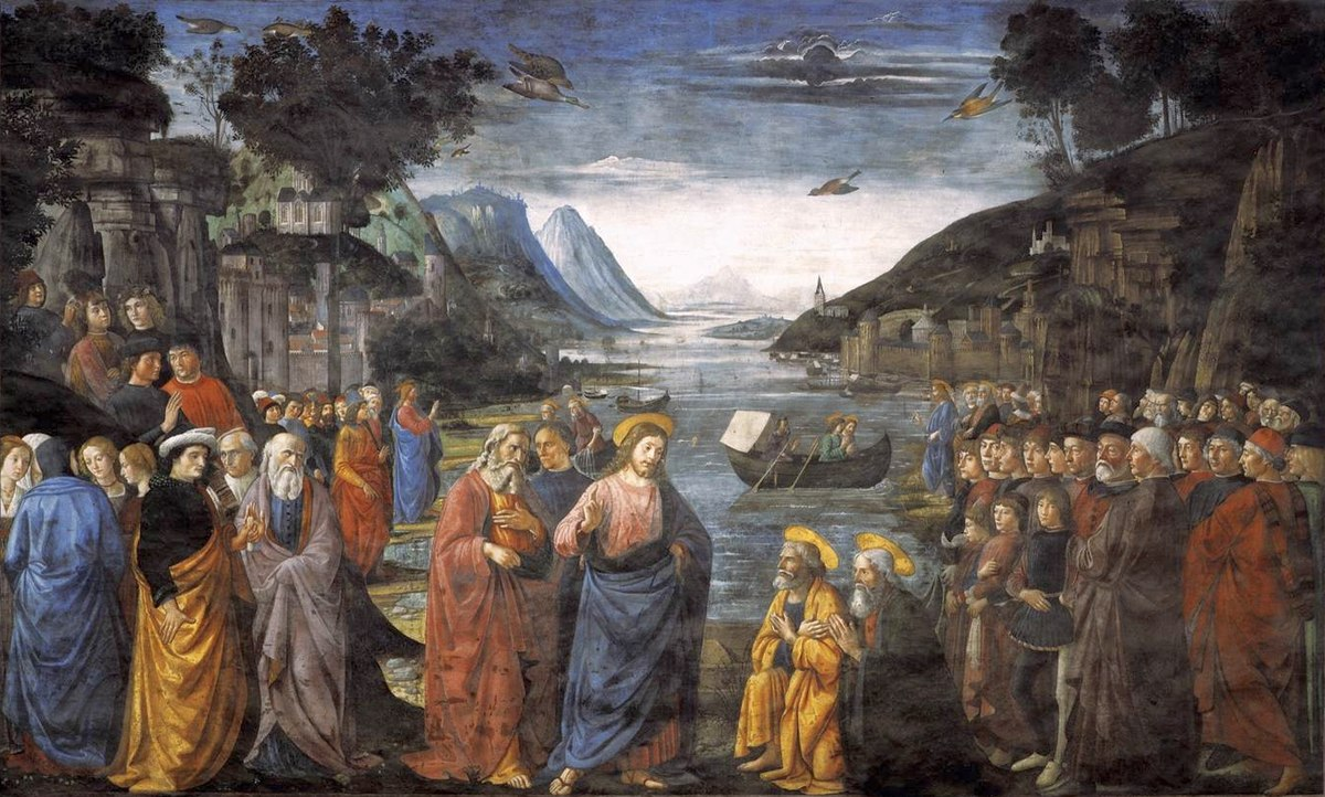 Ghirlandaio, Domenico - Calling of the Apostles - 1481.jpg