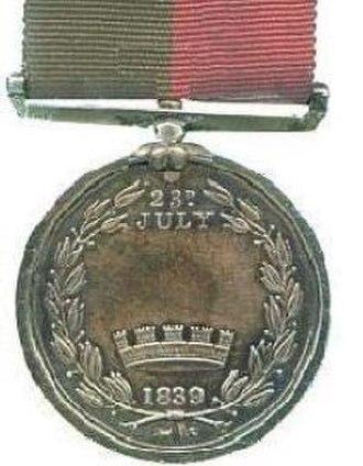 Ghuznee Medal - Image: Ghunzee reverse