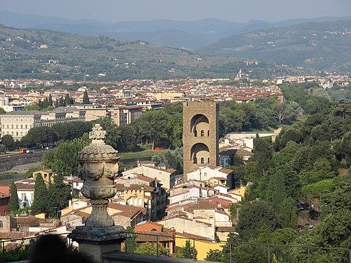 Vista verso Oltrarno e Torre San Niccolò, Giardino Bardini, Oltrarno, Firenze