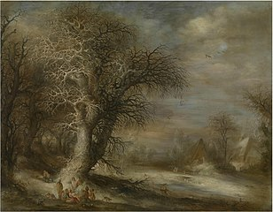 Snowy Landscape with Gypsies