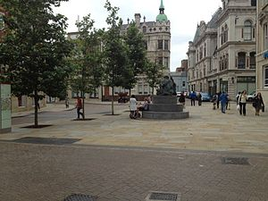 Shared space - A shared space scheme in Giles Circus, Ipswich (England)