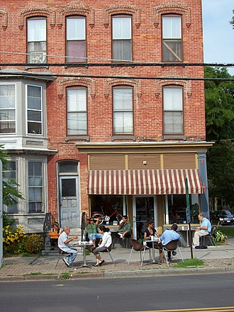 Gimme! Coffee - The Gimme! Coffee bar on North Cayuga Street in Ithaca, New York, opened in 2000.