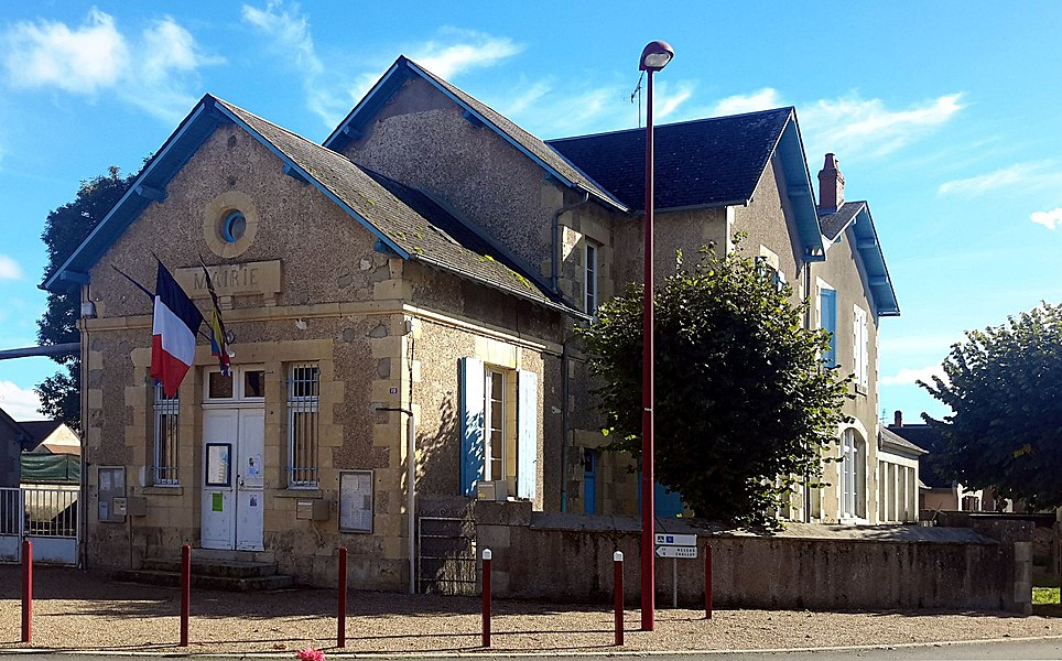 Town Hall Gimouille, Nièvre, France