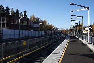 Gjettum (station) - Image: Gjettum T banestasjon