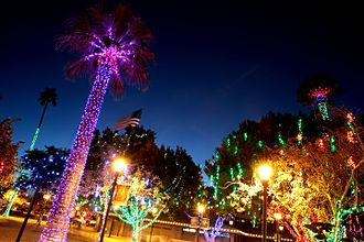 Glendale, Arizona - Downtown Glendale with Glendale Glitters around Christmas