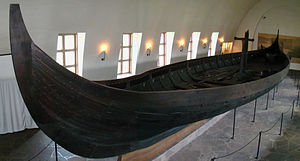 Gokstad ship - Side view of the ship