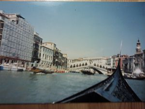 Gondola in Venice in Italy, July 1991.jpg