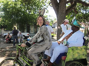 "Al ""Carnival Time"" Johnson - King Al rides in the Goodchildren Easter Parade"