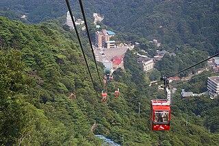 Gozaisho Ropeway Cable car