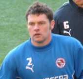 Graeme Murty warming up for Reading in 2008.