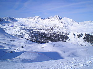 English: Grau Roig sector in ski resort GrandV...