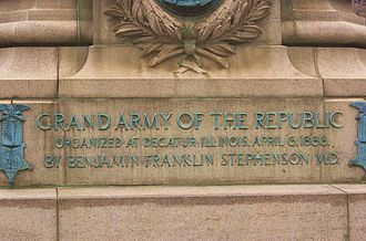 Reconstruction Era - Monument in honor of the Grand Army of the Republic, organized after the war
