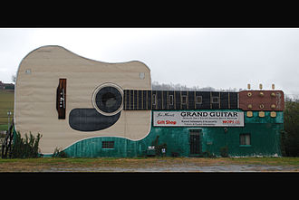 Bristol, Tennessee - The Grand Guitar on West State Street.