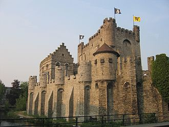 County of Flanders - The Gravensteen at Ghent, Built by Philip of Alsace