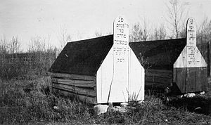History of the Jews in Canada - Graves in Jewish cemetery at Lipton Colony, Saskatchewan, 1916