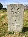 Gravestone of Private I. Davies of the Welsh Regiment and Labour Corps at Cathays Cemetery, May 2020.jpg