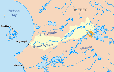 Great Whale map