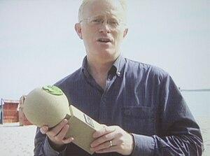 Green Screen film festival - Mike Gunton (BBC), taking the award for Mike Salisburys Cork - Forest in a Bottle