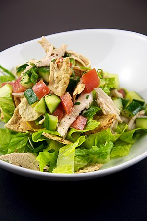 Grilled Chicken Fattoush Salad