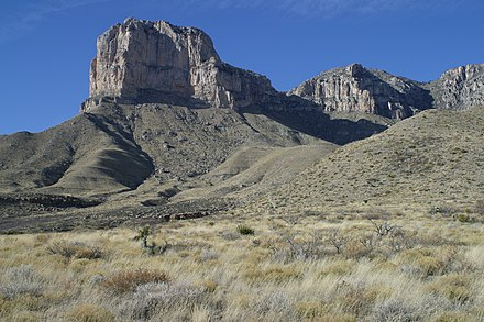 Guadalupe Mountains in Texas 2006 Guadalupe Mountains El Capitan 2006.jpg