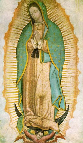 Juan Diego - Image of Our Lady of Guadalupe as it currently appears on the tilma