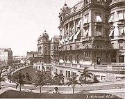 Vale do Anhangabaú em 1920, foto de Guilherme Gaensly.
