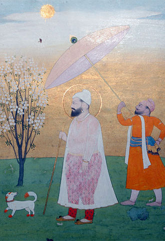 Guru Har Rai - Guru Har Rai, the Seventh Guru (Early-18th-century Pahari painting)