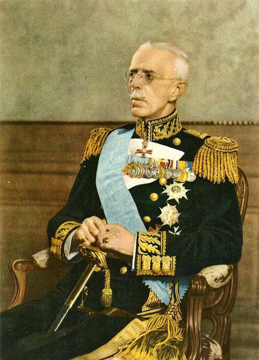 Gustaf V färgfoto