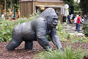 Statue of Guy the Gorilla in London Zoo