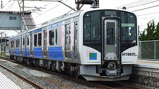 HB-E210 series Hybrid battery/diesel multiple unit train type operated in Japan