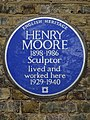 HENRY MOORE 1898-1986 Sculptor lived and worked here 1929-1940.jpg