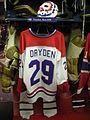 HHOF July 2010 Canadiens locker 17 (Dryden).JPG