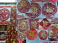 HK CWB 銅鑼灣 Causeway Bay 渣甸坊 Jardine's Crescent stall Dec 2018 SSG red lucky words stickers.jpg