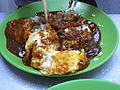 HK Sheung Wan Hillier Street lunch food Satay egg rice July-2012.JPG
