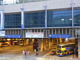 HK Siu Sai Wan Road 小西湾道 footbridge evening view Island Resort Bus Terminus exit.jpg