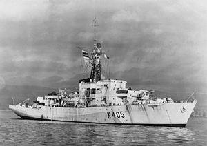 HMS Alnwick Castle (K405) - Image: HMS Alnwick Castle 1944 IWM FL 509