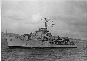 HMS Consort (R76) - Image: HMS Consort R76 1945