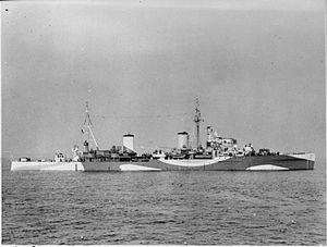 HMS Penelope (97) - Image: HMS Penelope 1942 IWM FL 4822