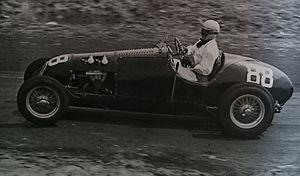1954 Bathurst 100 - Race winner Bill Clark (HRG), contesting the 1954 Bathurst 100