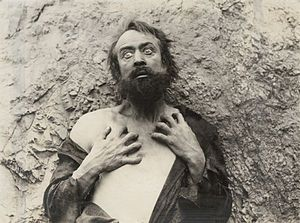 "H. B. Warner - In the 1916 silent drama ""The Beggar of Cawnpore,"" H. B. Warner is Dr. Robert Lowndes, a British army doctor in India reduced to wild eyed beggary by morphine addiction."
