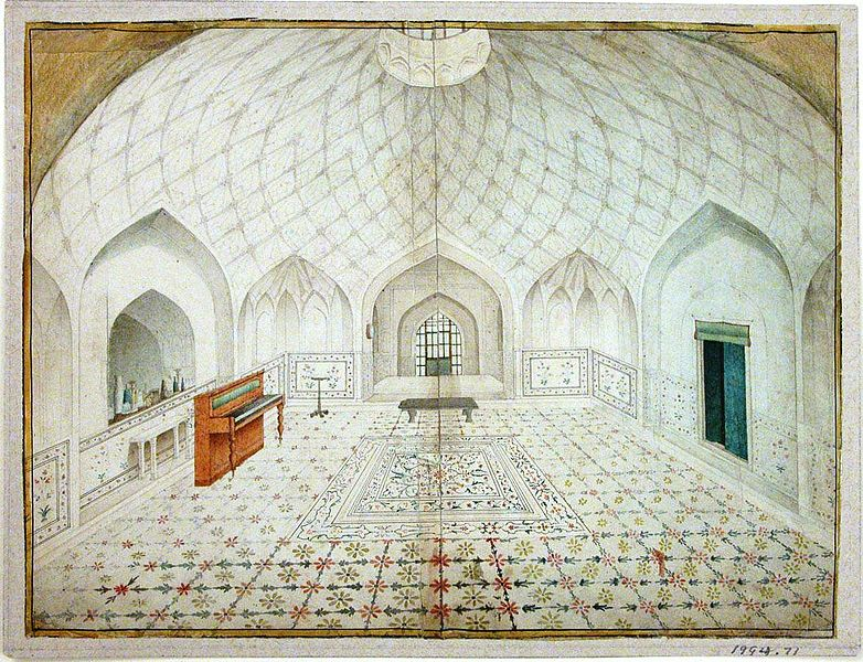 Description Hammam Red Fort interior.jpg