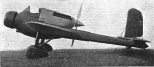 Hanriot H.110 - H.115, showing the ventral cannon