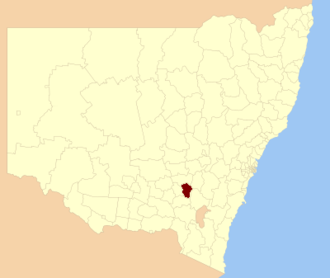 Harden Shire - Location in New South Wales