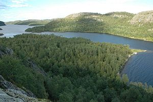 Paatsjoki - Harefossen and the Paatsjoki River
