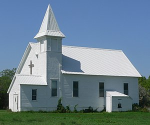 National Register of Historic Places listings in Jerauld County, South Dakota - Image: Harmony Friends Church (Jerauld Co) from SE 1